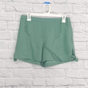 Anthropologie Elevenses | Green Sailor Shorts